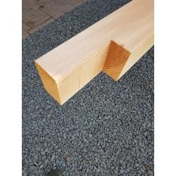 Douglas paal geschaafd 14,5 x 14,5 x 200 cm met brede verbinding