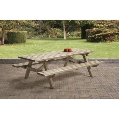 Picknicktafel recht 230 cm