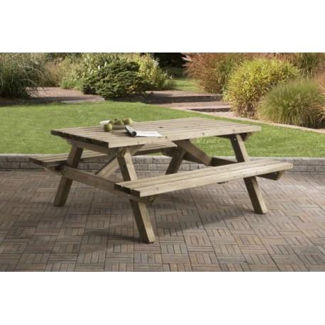 Picknicktafel recht 180 cm