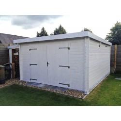 Garage Yola 416 x 536 cm blokhut tuinhuis platdak biancasa chalet center