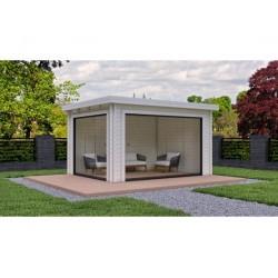 tuinhuis-xavira-416-x-326-cm-blokhut-platdak-glasgordijn-tuinkamer-buitenverblijf-biancasa-chalet-center-maatwerk